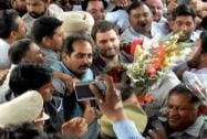 Rahul Gandhi at Ambala Railway Station
