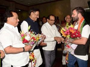 Rahul Gandhi in Mumbai Welcome by Congress Leader's.in Mumbai