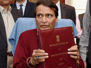 Union Railway Minister Suresh Prabhu  give final touches to the Railway Budget 2016 in his office