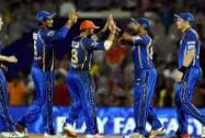 Rajasthan Royals' players celebrates the wicket of dd's Yuvraj Singh