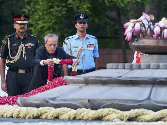 President of India, Pranab Mukherjee, Rajiv Gandhi, 71st Birth Anniversary, Vir Bhumi, New Delhi