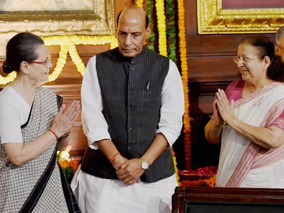 Rajiv Gandhi,Sumitra Mahajan, Rajnath Singh, Sonia Gandhi, Vir Bhumi, New Delhi, Parliament