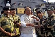 Union Home Minister Rajnath Singh with BSF jawans