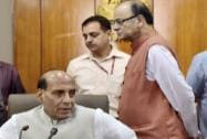 Home Minister Rajnath Singh with Finance Minister Arun Jaitley