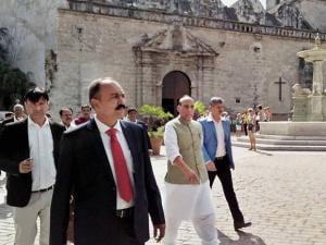 Union Home Minister Rajnath Singh at the San Francisco Square in Havana