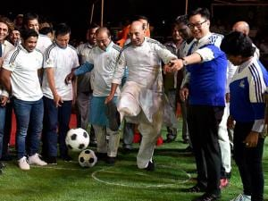 Rajnath Singh kicks off Oorja football awareness campaign