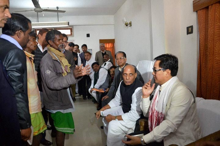 Rajnath Singh, Union Home Minister of India, Tarun Gogoi, Chief Minister of Assam, Sonitpur, Guwahati, victims, Bodo militants