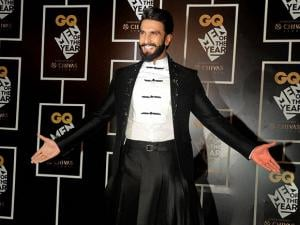 Ranveer Singh attends the GQ India Men of the Year Awards 2016
