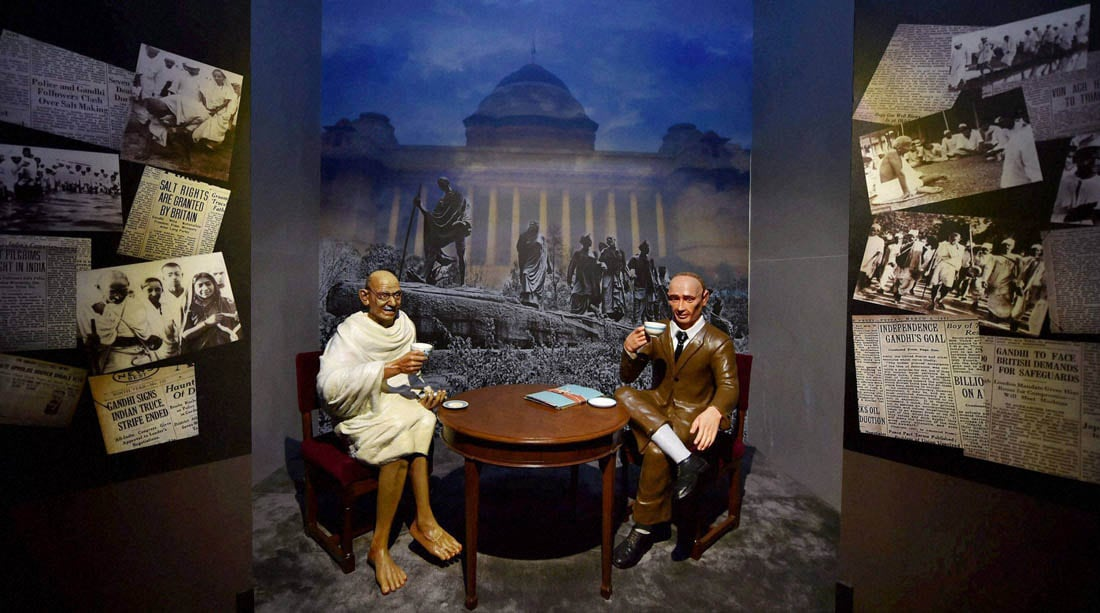 tableau, Gandhi-Irwin, meeting, displayed, Rashtrapati Bhavan Museum, New Delhi, inauguration, President Pranab Mukherjee