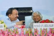 Abdul Kalam with Harsh Vardhan
