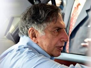 Ratan Tata comes out of finance ministry after meeting Finance Minister Arun Jaitley