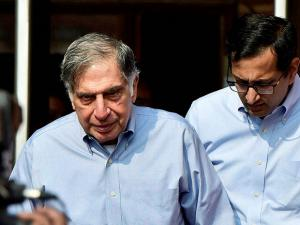 Tata Sons Chairman Ratan Tata comes out of finance ministry after meeting Finance Minister Arun Jaitley