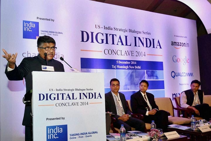 Ravi Shankar Prasad, Minister for Communications and Information Technology of India, Digital India Conclave-2014, Amit Agarwal, Vice President and Country Manager