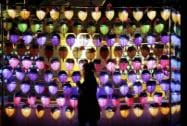 A woman prays during New Year celebrations at Jogye Buddhist temple in Seoul