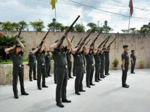 Soldiers paying tributes to patriots during Patriot Day celebration