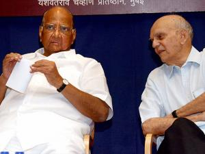 NCP President Sharad Pawar and former Cricketer and Industrialist Madhav Apte