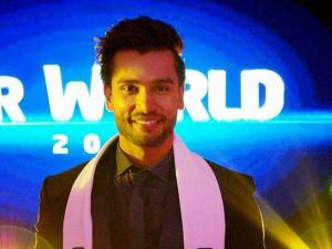 Rohit Khandelwal after winning the Mr World 2016