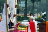 Prime Minister Narendra Modi paying tribute to Sardar Vallabhbhai Patel on the occasion of his birth anniversary