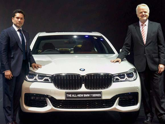 Auto expo, Auto expo 2016, New Delhi Auto expo , Sachin tendulkar at auto expo, Delhi auto expo ,BMW, BMW 7 series, Launch of BMW