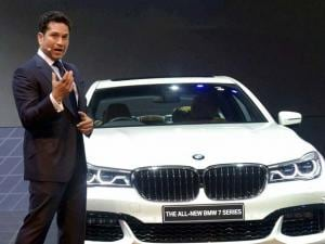 Sachin Tendulkar with president, BMW Group, India Philipp Von Sahr at the_launch