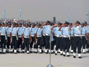 IAF jawan march