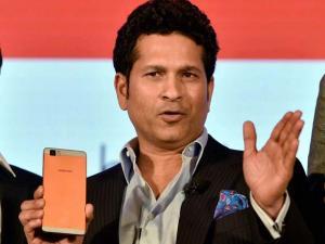Cricket legend Sachin Tendulkar at the launch of Ultrabook convertible t.book & premium smartphone t.phone at a function in New Delhi