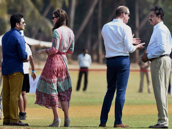 Prince William India visit, Kate Middleton, Sachin Tendulkar, Prince William, Prince William and Kate Middleton cricket, Prince William Charity Cricket, Prince William playing cricket, Princess Catherine and Prince William, Princess Catherine India, Duchess of Cambridge, Duke of Cambridge, Oval Maidan, Mumbai, Cricket, prince william and kate middleton india, prince william and kate middleton latest news