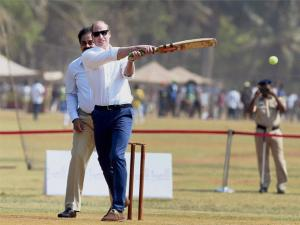 Prince William, Duke of Cambridge during a charity program at Oval Maidan in Mumbai.