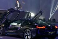 Sachin Tendulkar during the launch of BMW i8 in Mumbai