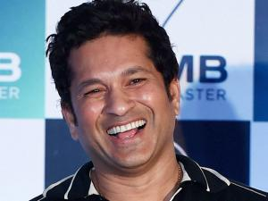 Sachin tendulkar during the launch of new digital application'100MB' in Mumbai