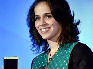 Ace Indian shuttler Saina Nehwal speaks at an event to announce her as the brand ambassador of Honor e-smartphones for India in New Delhi