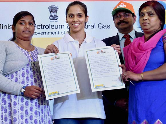 Saina Nehwal, Badminton player, Shuttler, LPG, GiveItUp, event Sports Celebrity