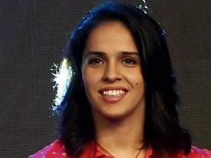 Badminton player Saina Nehwal during a promotional event in Mumbai