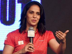 Badminton player Saina Nehwal in Mumbai