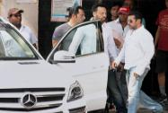Salman Khan leaves from his home for court in Mumbai