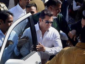Salman Khan, walks through a crowd outside the court, has been acquitted in 1998 Arms Act case by Jodhpur court