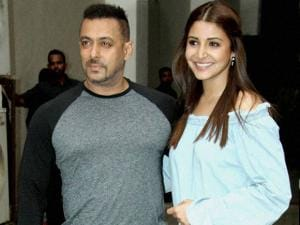 Salman Khan and Anushka Sharma during a press conference for their film 'Sultan' Movie