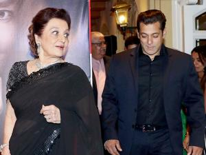 Bollywood veteran actor Asha Parekh with Salman Khan