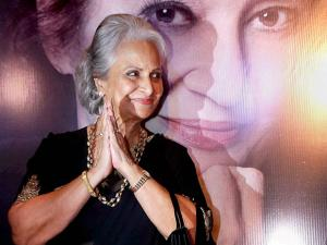 Waheeda Rehman during the launch of Asha Parekh's autobiography 'The Hit Girl'