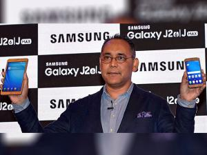 Manu Sharma Mobile Business,  Samsung India during launch of new mobile phones