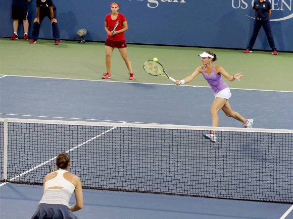 US Open final, Sania Mirza, Martina Hingis, US Open 2015, Mixed Doubles Final, New York, Switzerland, India