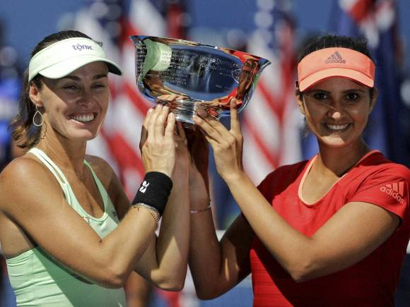 US Open final, Sania Mirza, Martina Hingis, US Open 2015, Mixed Doubles Final, Casey Dellacqua, Australia, Yaroslava Shvedova, Kazakhstan, women doubles championship, New York, Switzerland, India
