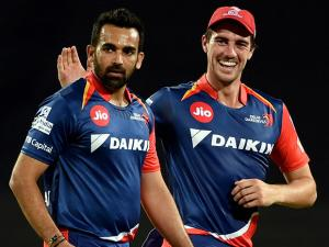 Delhi Daredevils bowler Zahir Khan celebrates the wicket of Rising Pune Supergiants