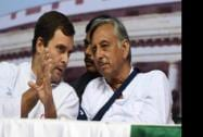 Congress Vice President Rahul Gandhi with senior leader Mani Shankar Aiyer