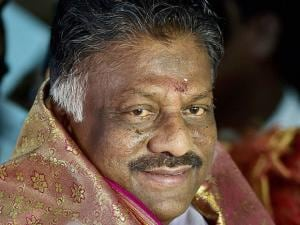 Tamil Nadu Chief Minister O Panneerselvam at his residence
