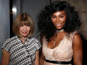 Serena Williams and Vogue editor-in-chief Anna Wintour