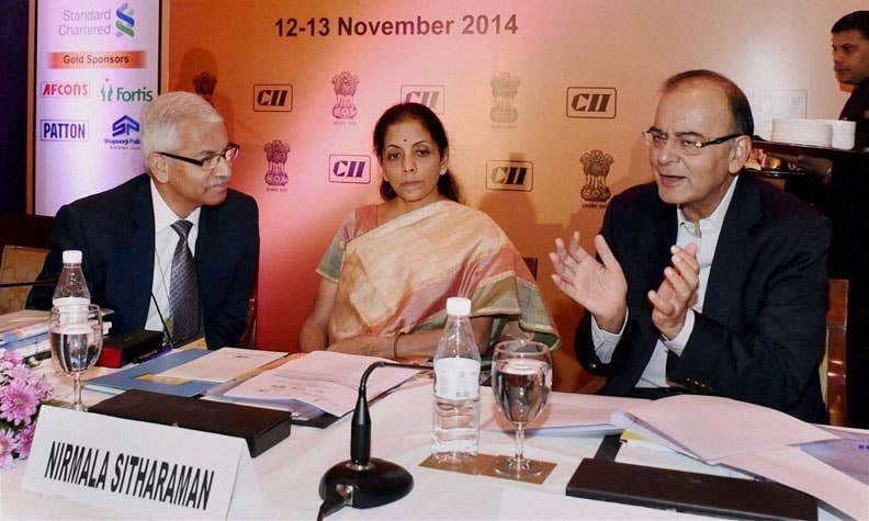 Finance Minister, Arun Jaitley, speaks, opening session, Services Conclave 2014, New Delhi