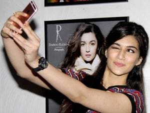 Kriti Sanon during annual calendar launch of Fashion Photographer Dabboo Ratnani