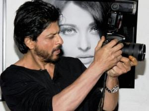 Shahrukh Khan during annual calendar launch of Fashion Photographer Dabboo Ratnani