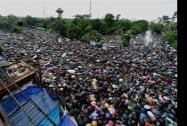 A huge gathering at Trinamool Congress' 'Shahid Diwas' rally in Kolkata
